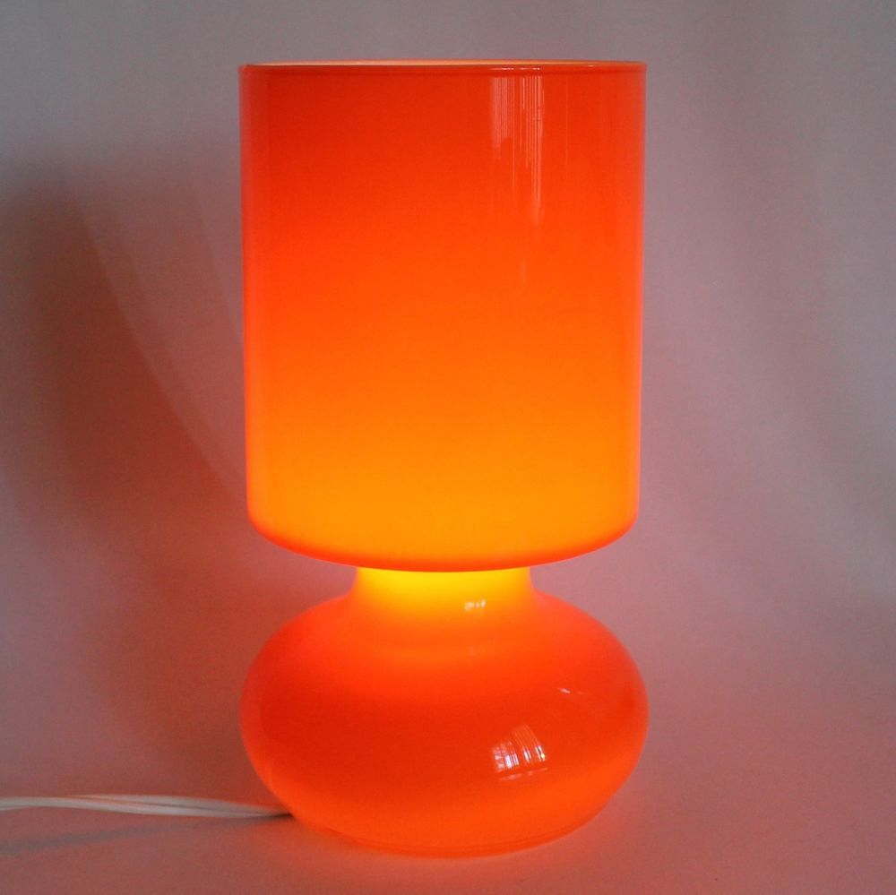 Ikea Lamp Lykta Orange Colored Gl Table Accent Retro Modern