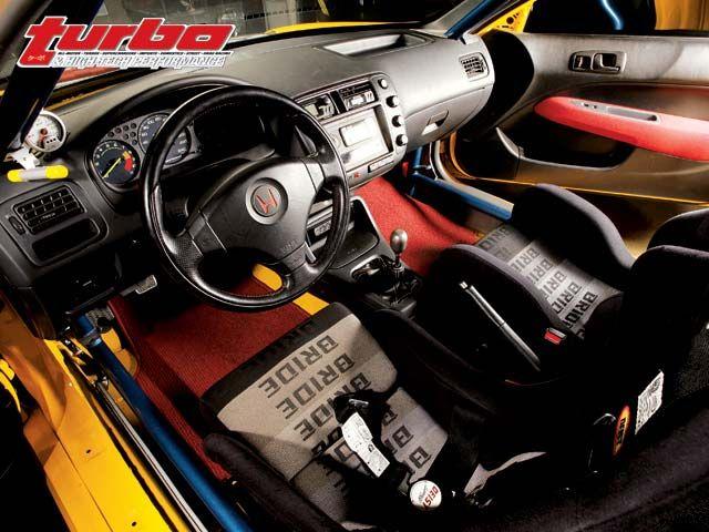 1997 Honda Civic EK Hatchback Interior - no carpet with ... on