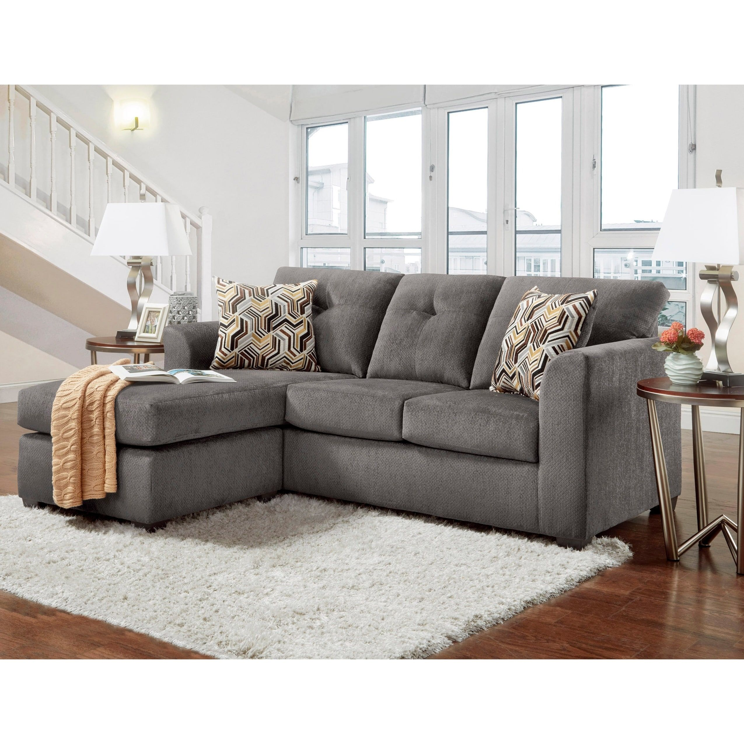 Sofatrendz Buckley Contemporary Tufted Sectional Beige
