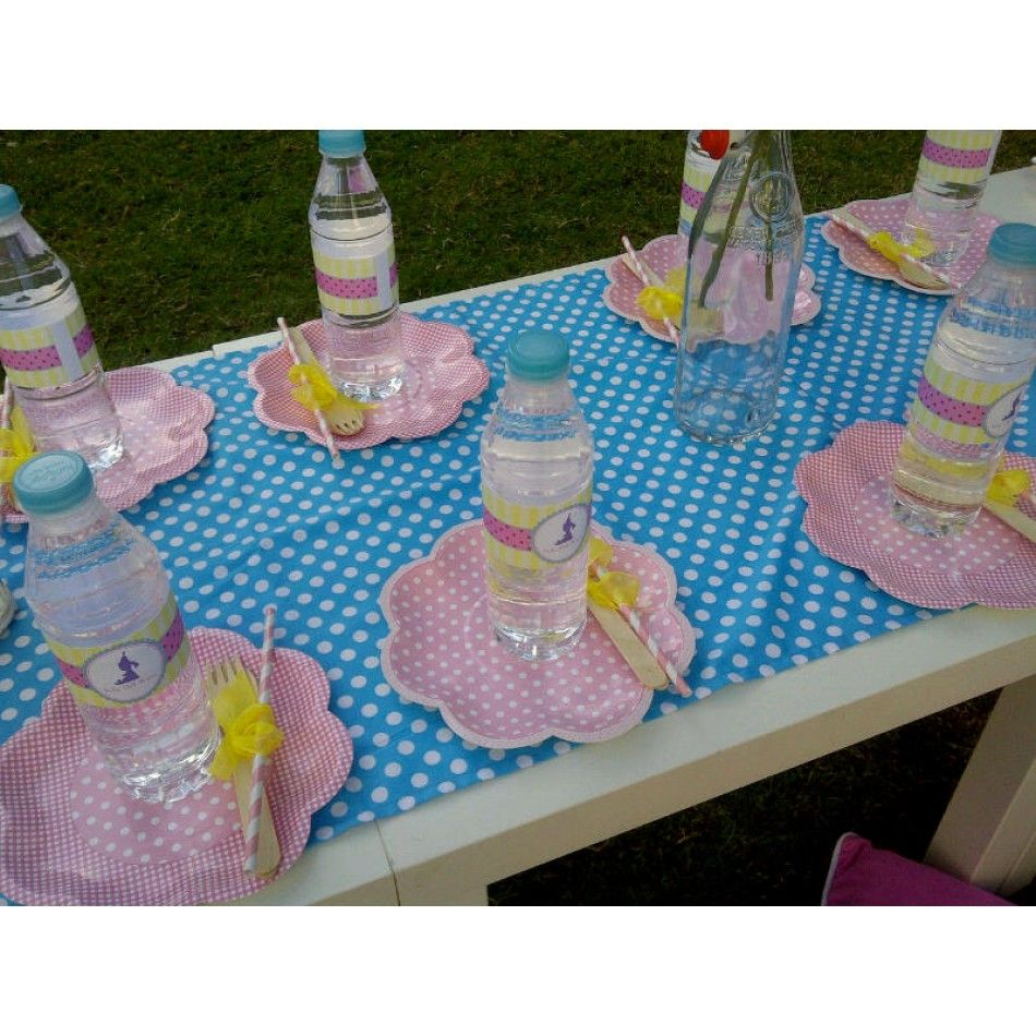 Tea Party with Baby Dolls and Tutus Birthday Party Printable