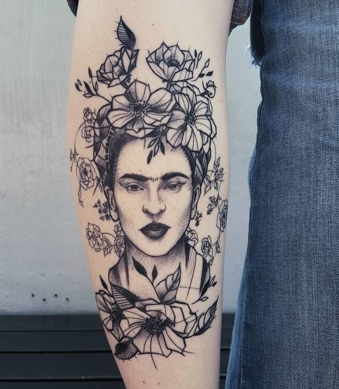 30 Creative Frida Kahlo Tattoo Designs Tatuagem Feminista Tatuagem Ombro Feminina Tatuagem