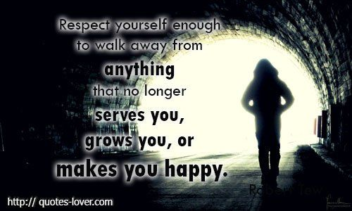 walk away from...