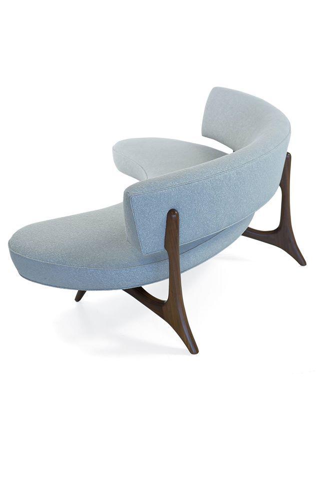 Floating Curved Sofa: Designed 1952 | sillas y loveset | Pinterest ...