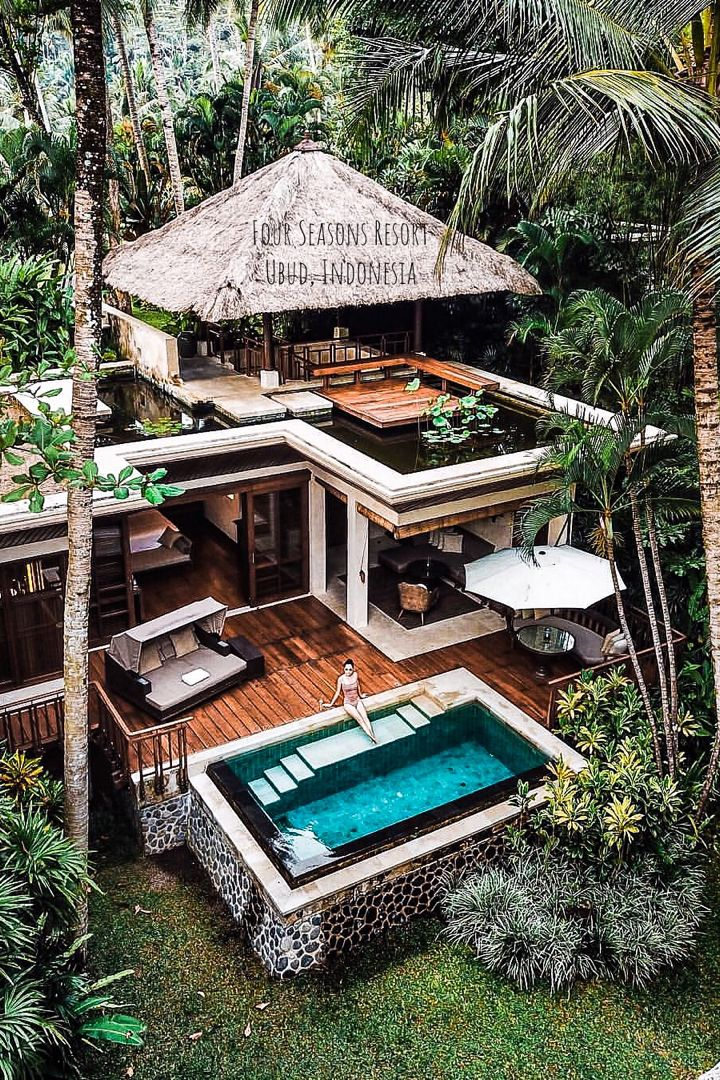 Four Seasons Resort Bali At Sayan In Ubud Indonesia House Architecture Styles Architecture House House Exterior