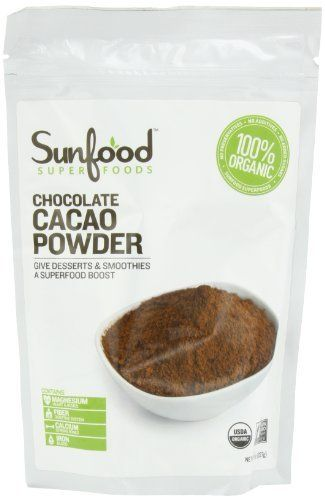 Sunfood Sunfood Cacao (Chocolate) Powder (Raw, Organic), 8-Ounce Bag, http://www.amazon.com/dp/B003XDH72K/ref=cm_sw_r_pi_awd_oOq0rb02PCAE4