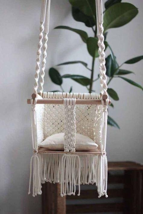 Macrame Chairs. #furniture #furnituremakeover #macrame #chair #homedecor #home #homedecorideas #crafts #diy #diyhomedecor #diycrafts #diyfurniture #babychair  #babychairdiy  #babychairdiyhowtomake  #babychairwooden