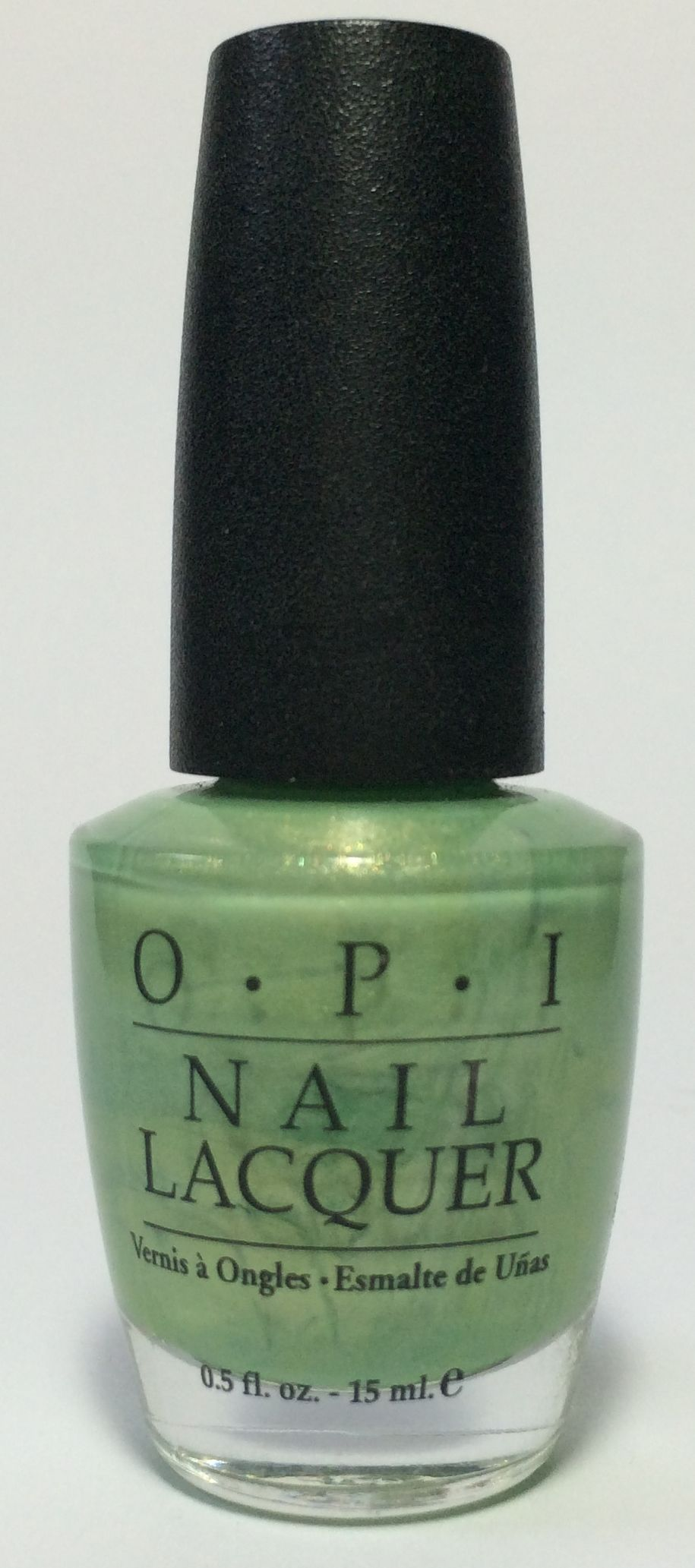 I *think* this is OPI Creme de Menthe, though unfortunately the ...