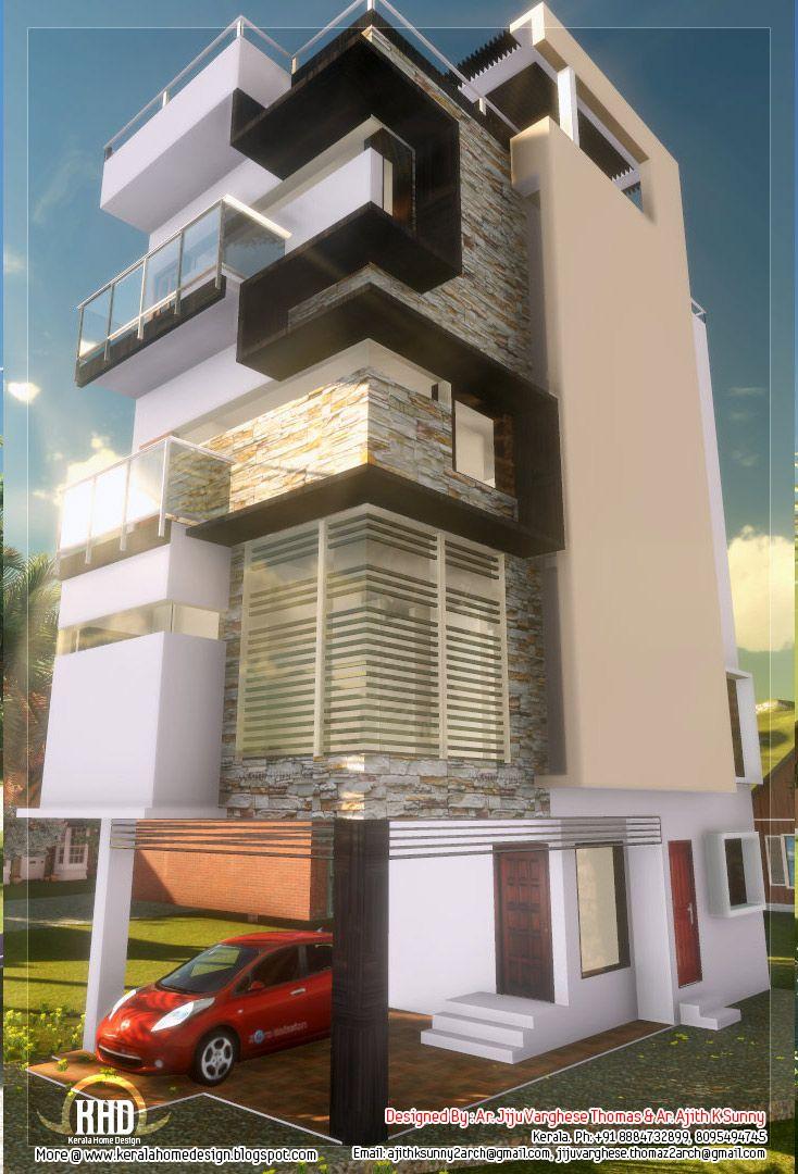 narrow home design 04 NARROW HOME DESIGNS Architecture Interior