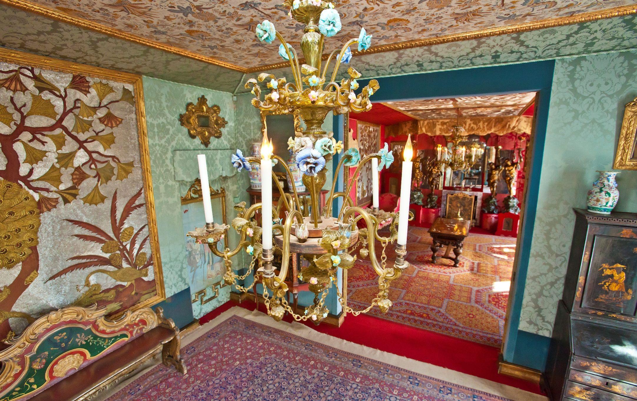 The Blue Room inside Victor Hugo's house in Hauteville, St