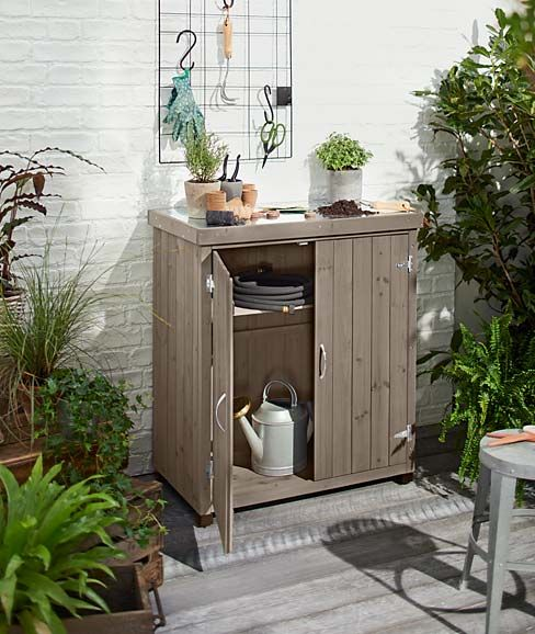gartenschrank stauraum terrasse kommode balkon. Black Bedroom Furniture Sets. Home Design Ideas