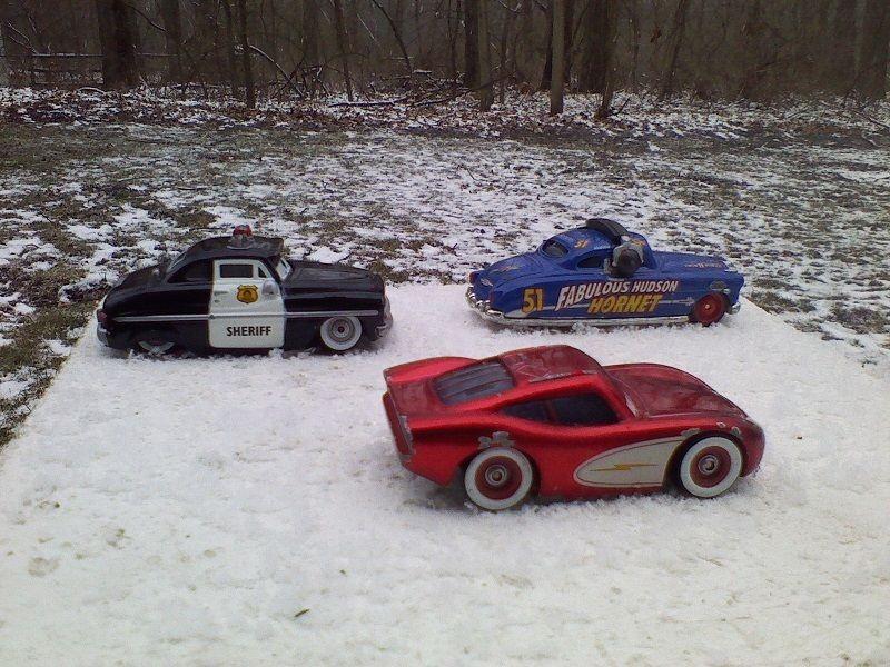 Disney Pixar Cars Diecast McQueen Sheriff & Fabulous Hudson Hornet Cars 1:55 #disney #varies