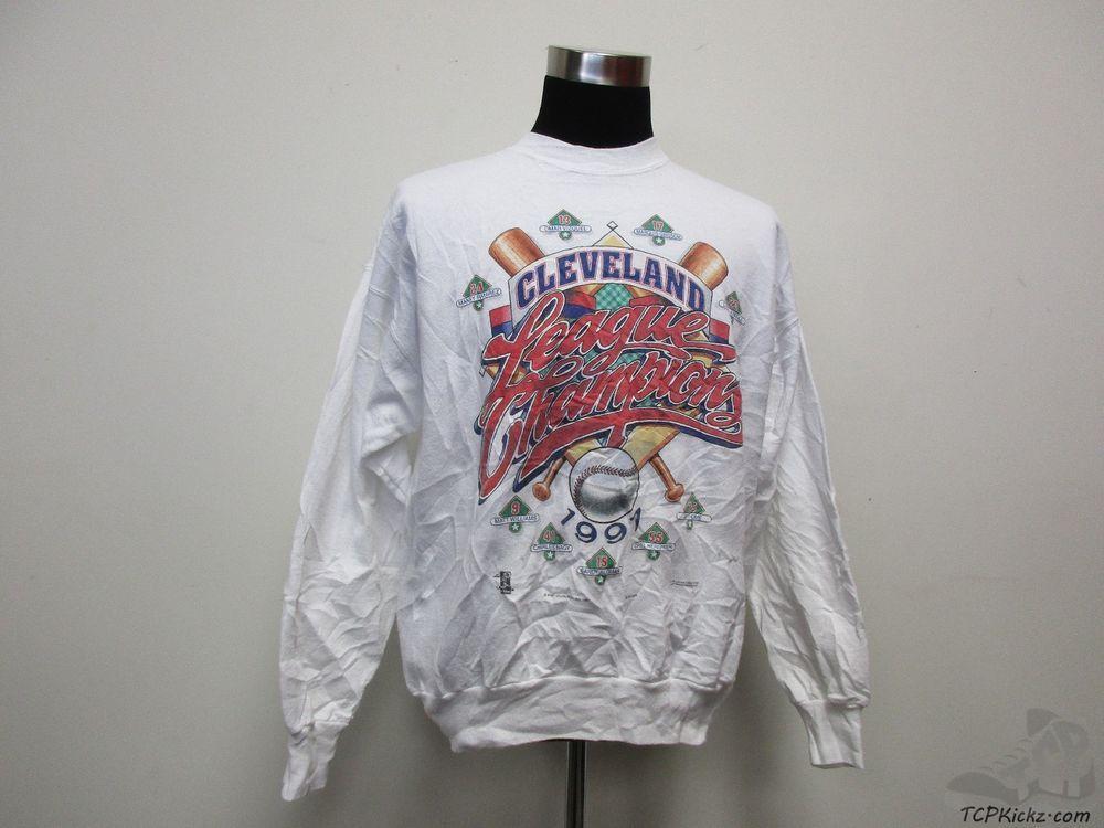 separation shoes 3fa55 669a0 Vtg 90s Hanes Cleveland Indians Crewneck Sweatshirt sz XL ...
