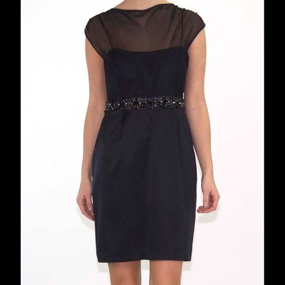 Hoaglund New York Illusion Top cocktail dress Silk! Nwt! Message for details Hoaglund Dresses