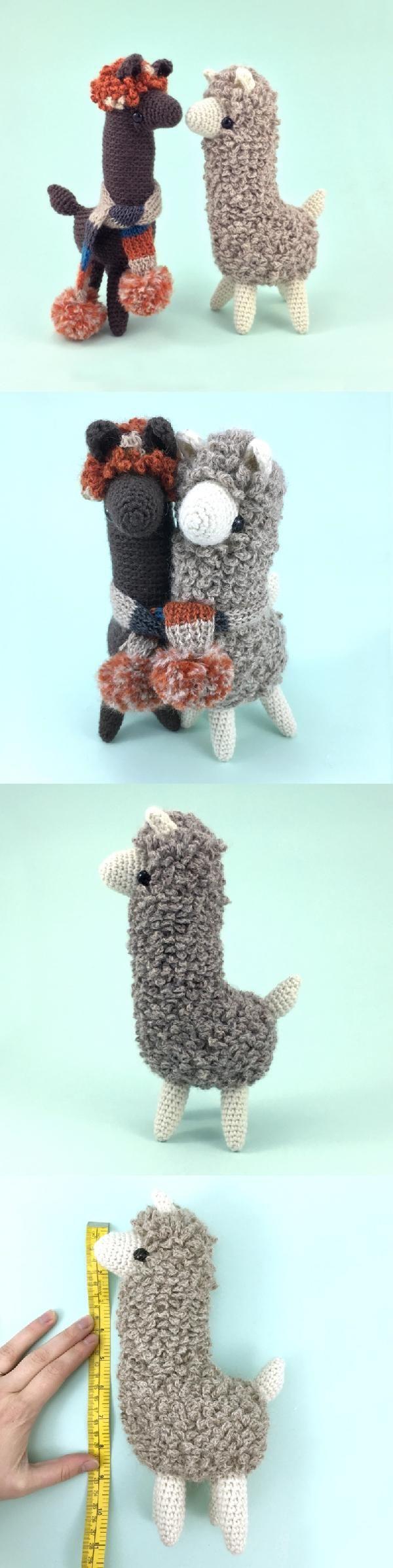 Ludwig The Llama amigurumi pattern by Irene Strange | Häkeln, Alpaka ...