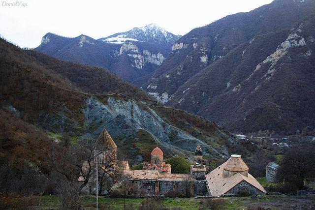 Dadivank monastery. Karvachar, Artsakh, Armenia.