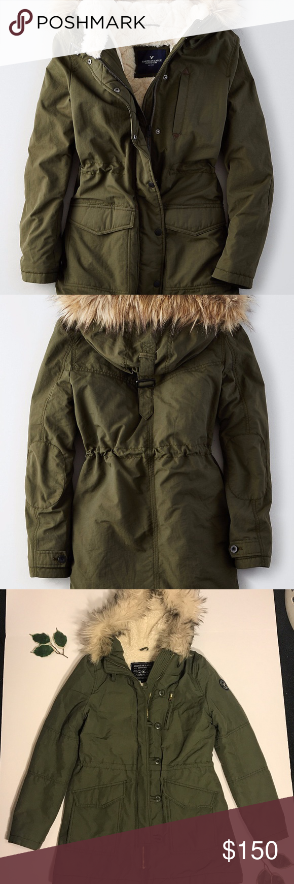 American Eagle Outfitters Army Green Sherpa Coat American Eagle Outfitters Sherpa Coat American Eagle [ 1740 x 580 Pixel ]
