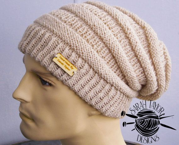Knitting Pattern Queenstown Slouchy Beanie Hat Easy Project