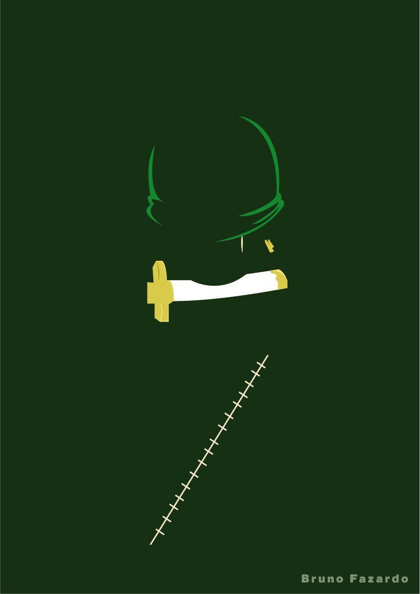 zoro minimalist Imagenes de luffy, Roronoa, Personajes