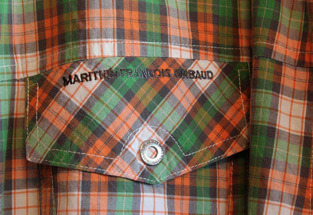 Marithe&Francois Girbaud Shirt XXL Multicolor Plaid Long Sleeve Snap Front #MaritheFrancoisGirbaud #SnapFront