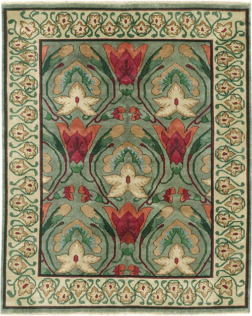 The Grand Botanical Motifs Featured In This Design Are
