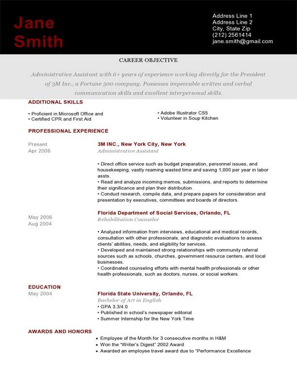 Resume Template Brick Red Pantheon  Business Information