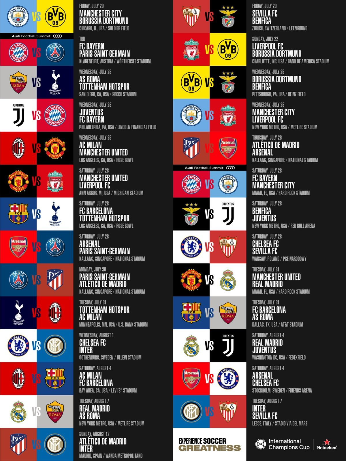 Chivas International Champions Cup Calendario.Pin On We Call It Soccer In The Usa