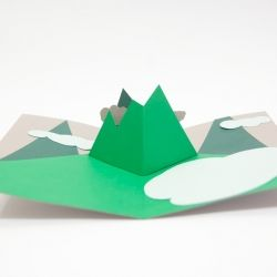 Mountains Pop Up Card By Andrew Zo 56638 Notcot Org Pop Up Book Pop Up Cards Babysitting Crafts