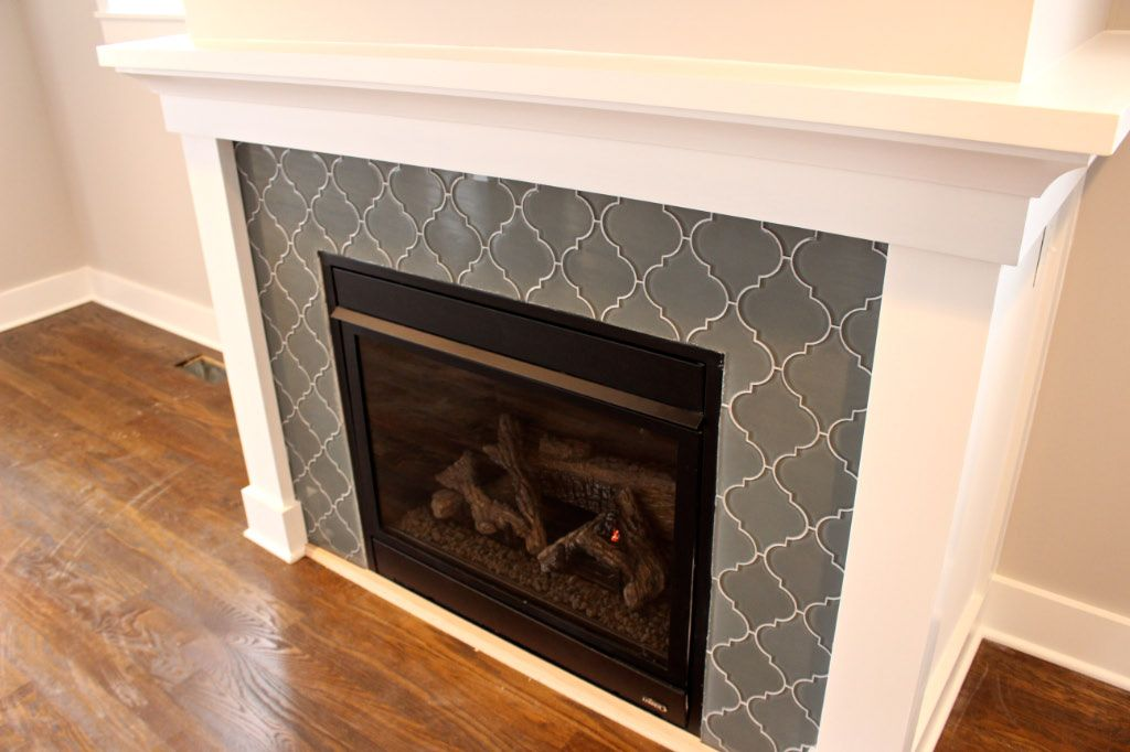 Glass Tile Around Fireplace 409 House Pinterest