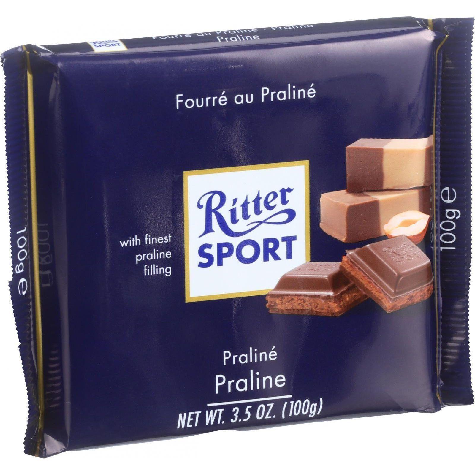 Ritter Sport Chocolate Bar Milk Chocolate Praline