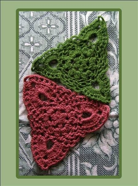 Triangle granny squares | Yarn!! Crochet & Knit, I don\'t care which ...