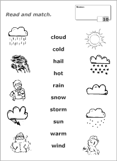 weather vocabulary for kids learning english printable resources worksheets learn english. Black Bedroom Furniture Sets. Home Design Ideas