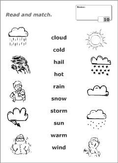 Endearing Esl Weather Worksheet Printable For Weather