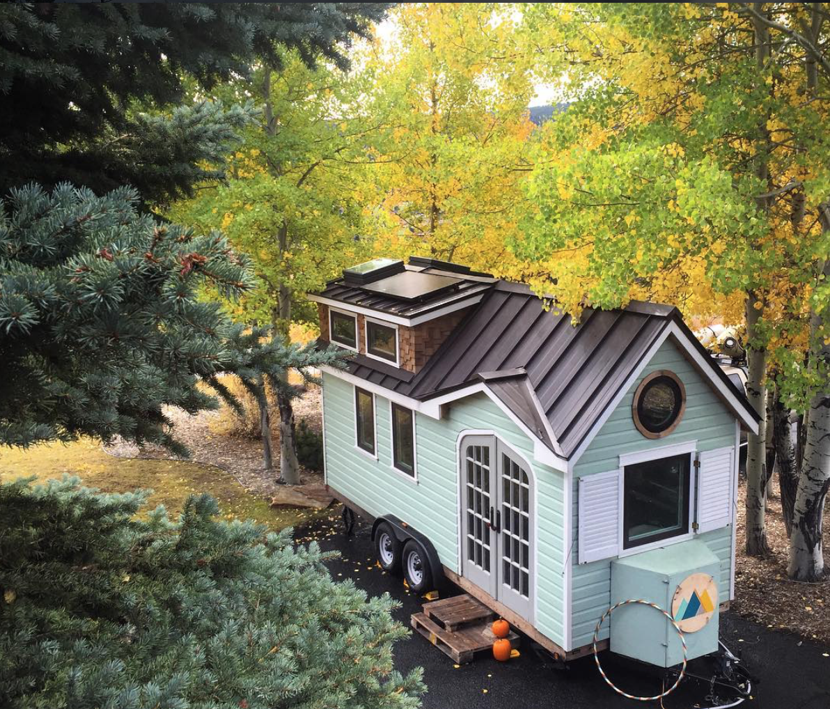 A beautiful tiny house on wheels in dallas built by its for Pretty small houses