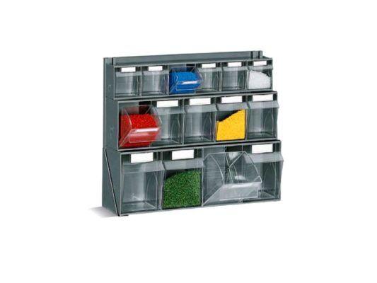 Tavolo Da Lavoro Plastica.Cassetti In Plastica Sovrapposti Per Minuteria Su Banco Da Lavoro