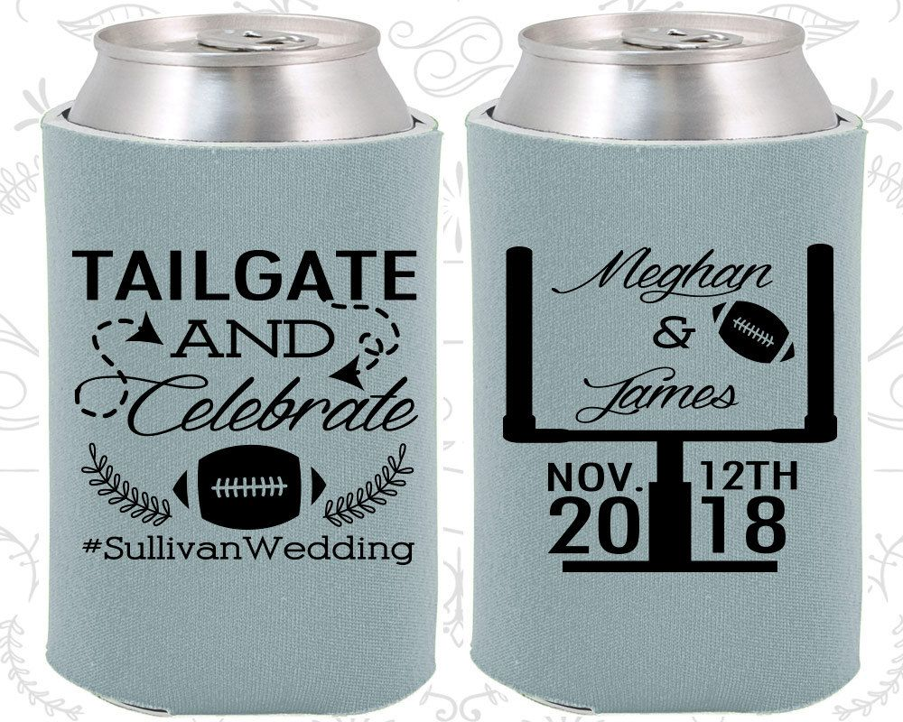 Tailgate And Celebrate Wedding Giveaways Football Favors Drink Holder 394