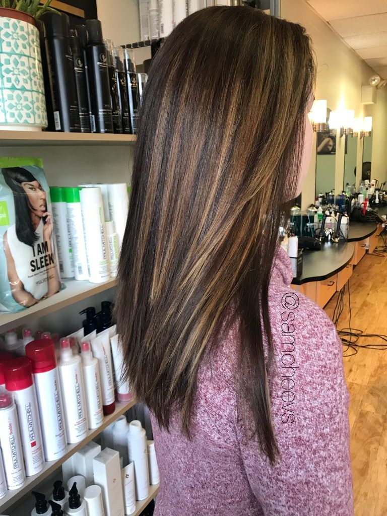 Blonde Caramel Light Brown Highlights For Dark Brown Hair Types Highlights For Dark Brown Hair Brown Blonde Hair Light Brown Hair