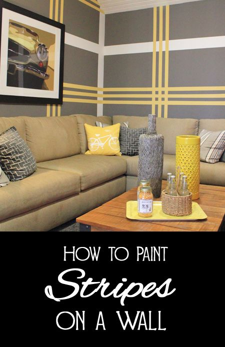 How To Paint Stripes On A Wall Wall Paint Designs Diy Wall Painting Paint Stripes