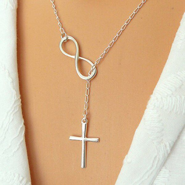 Mothers Day Gift Silver Steel Cross Pendant Necklace Personalised Box 18/""
