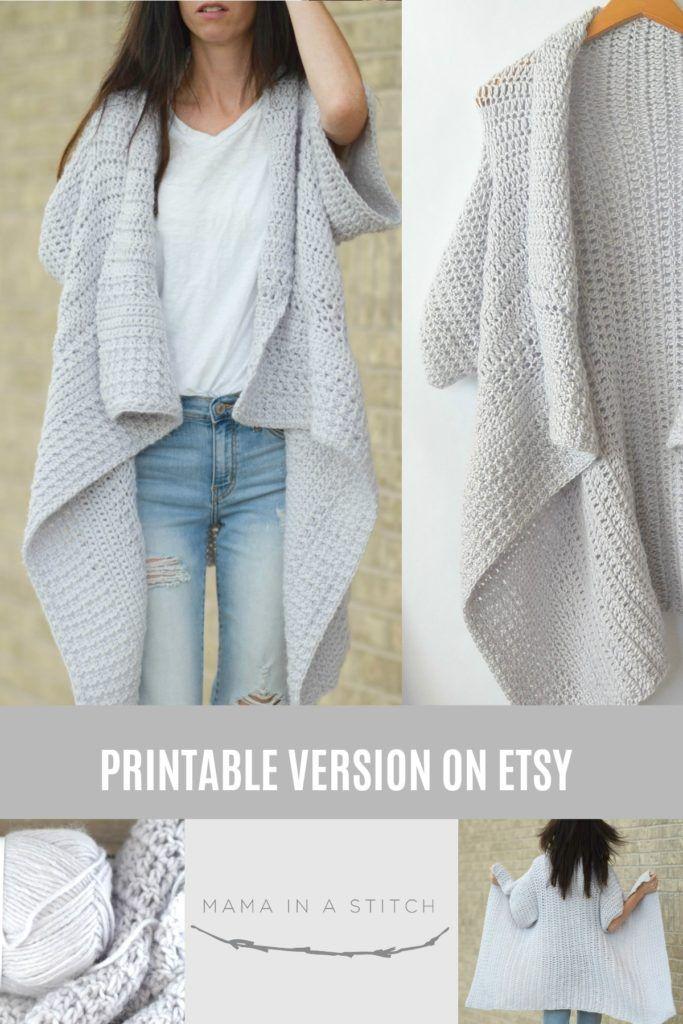 Cascading Kimono Cardigan Crochet Pattern | Crochet | Pinterest ...