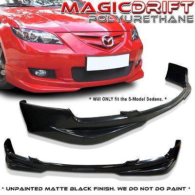 07 08 09 Mazda 3 Mazda3 4dr Sedan Sport Poly Urethane Front Bumper Lip Spoiler Ebay Mazda 3 Sedan Mazda Mazda Cars