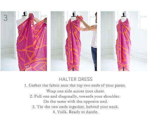 nouer un sarong en robe Vacances Plage, Foulard, Jupe, Vêtements Resort,  Styles ba76d25ff35