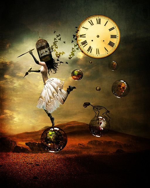 """ariel brearly """"I stole the hands of time to see what it would do.""""....Surreal clock without hands"""