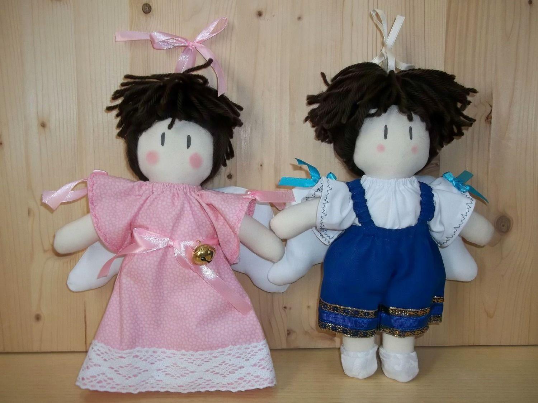Decorazioni camerette ~ Coppia angeli di stoffa fatti a mano. idea per decorazioni