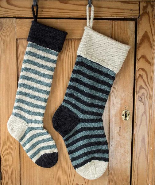 cf1776756 Striped Basic Christmas Stocking Using Brown Sheep Lamb s Pride ...