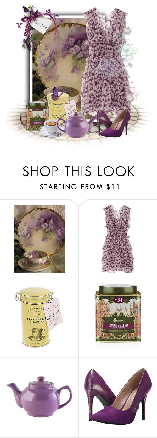 """""""Tea Time"""" by kmlvr9 ❤ liked on Polyvore featuring Nina Ricci, Harrods and C Label"""