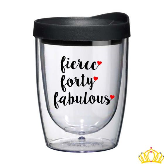 Funny 40th Birthday Gifts Presents For: 40th Birthday Gifts For Women, READY TO SHIP, Wine Tumbler