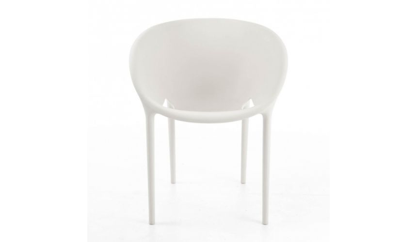 Cool soft egg stoel driade store stoelen outdoor uac with for Philip starck stoel