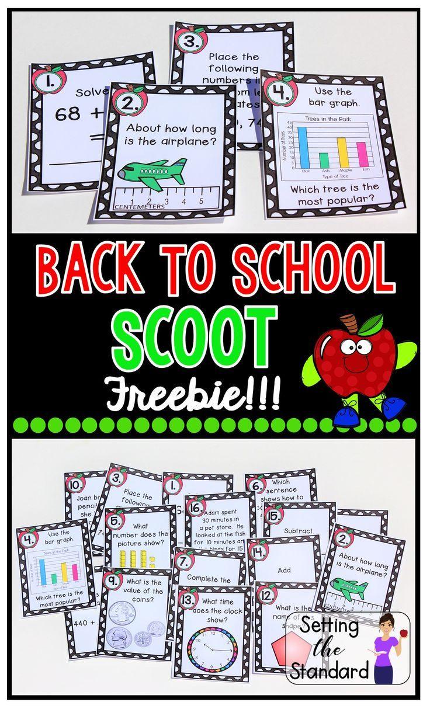 Backtoschool math task cards math task cards 2nd