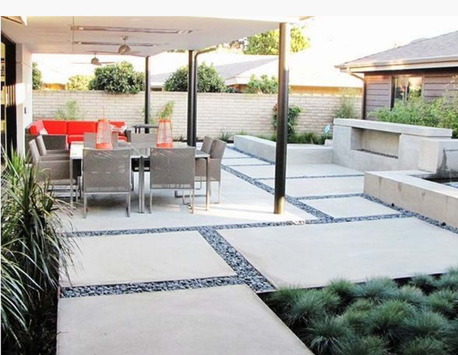 Modern Patio Large Backyard Landscaping Patio Design Backyard