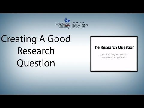 Creating A Good Research Question Youtube Research Question This Or That Questions Sociological Concepts